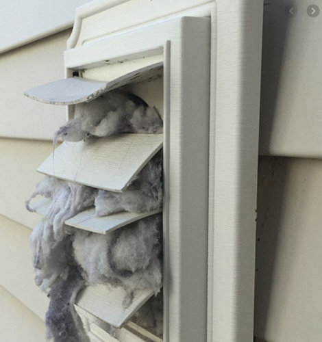 Clogged Dryer Vent need to cleaned right away