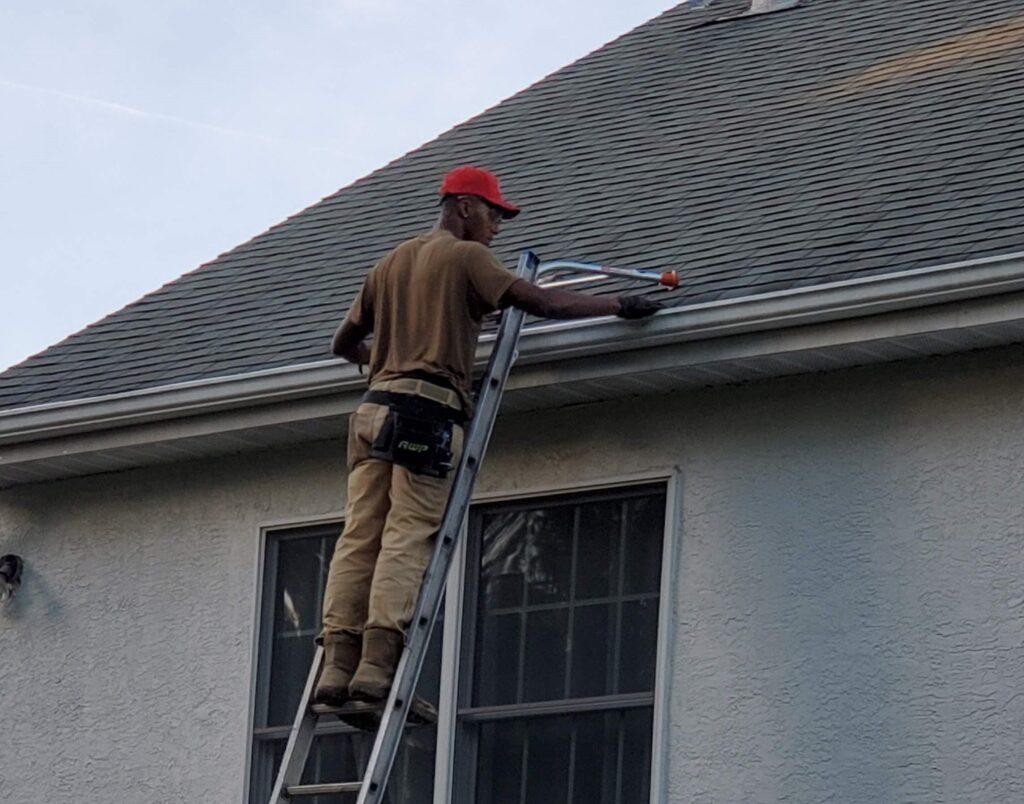 Gutter Repair and Gutter Guard Install